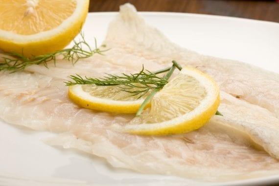sliced sea bass